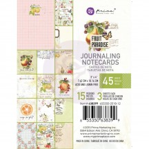 "Prima Fruit Paradise 3""x4"" Journaling Note Card Pad 638399"
