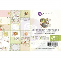 "Prima Fruit Paradise 4""x6"" Journaling Note Card Pad 638405"