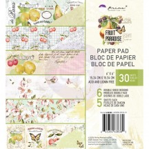 "Prima Fruit Paradise 6""x6"" Double-Sided Paper Pad 30 sheets 638382"