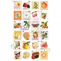 Prima Fruit Paradise Postage Stamp Stickers 638511