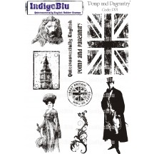IndigoBlu A5 Cling Mounted Rubber Stamp Sheet - Pomp & Pageantry