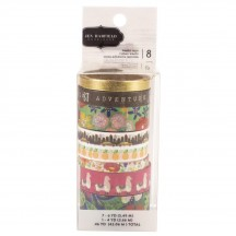 Pebbles Jen Hadfield Chasing Adventures Washi Tape Rolls 734029