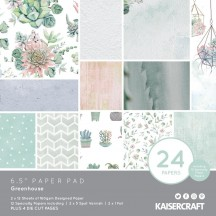 "Kaisercraft Greenhouse 6.5""x6.5"" Specialty Paper Pad PP1064 40 Sheets"
