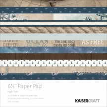 "Kaisercraft High Tide 6.5""x6.5"" Specialty Paper Pad PP1011 40 Sheets"