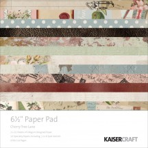 """Kaisercraft Cherry Tree Lane 6.5""""x6.5"""" Specialty Paper Pad PP1012 40 Sheets"""