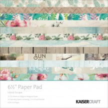 "Kaisercraft Island Escape 6.5""x6.5"" Specialty Paper Pad PP1014 40 Sheets"
