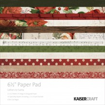 "Kaisercraft Letters to Santa 6.5""x6.5"" Specialty Paper Pad PP1028 40 Sheets"