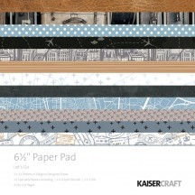 """Kaisercraft Let's Go 6.5""""x6.5"""" Specialty Paper Pad PP1056 40 Sheets"""
