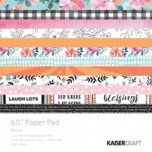 "Kaisercraft Blessed 6.5""x6.5"" Specialty Paper Pad PP1059 40 Sheets"