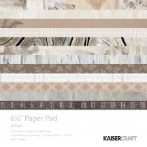 "Kaisercraft Whisper 6.5""x6.5"" Specialty Paper Pad PP1060 40 Sheets"
