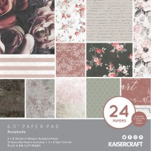 "Kaisercraft Rosabella 6.5""x6.5"" Specialty Paper Pad PP1061 40 Sheets"