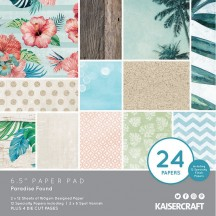 "Kaisercraft Paradise Found 6.5""x6.5"" Specialty Paper Pad PP1062 40 Sheets"