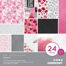 "Kaisercraft Magenta 6.5""x6.5"" Specialty Paper Pad PP1071 40 Sheets"