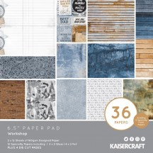 "Kaisercraft Workshop 6.5""x6.5"" Specialty Paper Pad PP1073 40 Sheets"