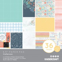 "Kaisercraft Crafternoon 6.5""x6.5"" Specialty Paper Pad PP1078 40 Sheets"