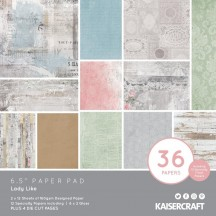 "Kaisercraft Lady Like 6.5""x6.5"" Specialty Paper Pad PP1080 40 Sheets"