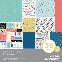 "Kaisercraft Oh Happy Day 6.5""x6.5"" Specialty Paper Pad PP1082"