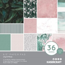 "Kaisercraft Lily & Moss 6.5""x6.5"" Specialty Paper Pad PP1083"