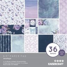 "Kaisercraft Amethyst 6.5""x6.5"" Specialty Paper Pad PP1086"