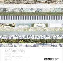 "Kaisercraft Provincial 6.5""x6.5"" Specialty Paper Pad PP984 40 Sheets"