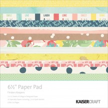 "Kaisercraft Finders Keepers 6.5""x6.5"" Specialty Paper Pad PP992 40 Sheets"