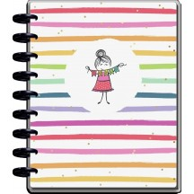 Me & My Big Ideas Stick Girl CLASSIC Teacher Happy Planner Dated Aug 2021 - July 2022 PPCD12-157