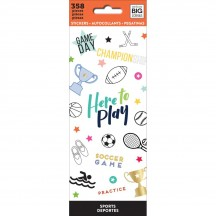Me & My Big Ideas The Happy Planner Sports Value Pack Stickers PPSM-15