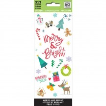 Me & My Big Ideas The Happy Planner Merry & Bright Christmas Value Pack Stickers PPSM-21