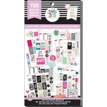 Me & My Big Ideas Create 365 The Happy Planner Color Story CLASSIC Value Pack Stickers PPSV-10