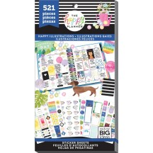 Me & My Big Ideas Create 365 The Happy Planner Happy Illustrations Value Pack Stickers PPSV-116