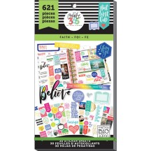 Me & My Big Ideas Create 365 The Happy Planner Faith Value Pack Stickers PPSV-17