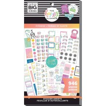 Me & My Big Ideas The Happy Planner Fitness Value Pack Stickers PPSV-175