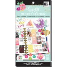 Me & My Big Ideas Happy Memory Keeping BIG Value Pack Stickers Floral Memories PPSV28