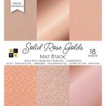 """DCWV Rose Gold 6""""x6"""" Cardstock Stack 18 sheets PS-006-00132"""
