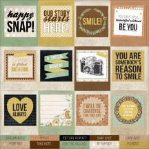 "Kaisercraft Take Note Snapshot 12""x12"" Perforated Cardstock Tags PS300"