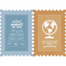 Kaisercraft Let's Go Postage Stamp Die-Cut Paper PS545