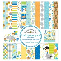 "Doodlebug Party Time 12""x12"" Paper Pack 6691"