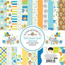 "Doodlebug Party Time 6""x6"" Paper Pad 6689"