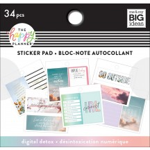 Me & My Big Ideas The Happy Planner Tiny Sticker Pad Digital Detox PTSP-62