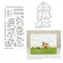My Favorite Things Puppy Pals Clear Stamps & Die Set