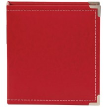 """Simple Stories Snap Binder Red 6""""x8"""" Faux Leather Album & Accessories 4035"""