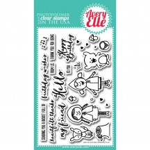 Avery Elle Red & Goldie Clear Stamps