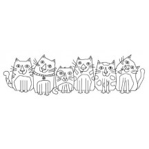Woodware Les Chats Cats Clear Magic Stamp FRS346