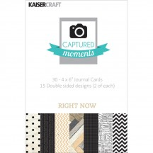 "Kaisercraft Captured Moments Right Now 4""x6"" Double Sided Journal Cards CM319"