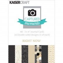 "Kaisercraft Captured Moments Right Now 3""x4"" Double Sided Journal Cards CM119"