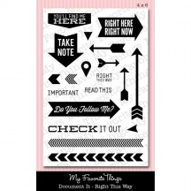 My Favorite Things Right This Way LLD Document It Clear Stamps
