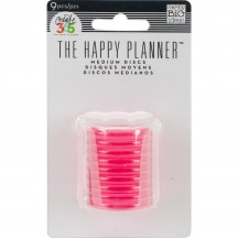 "Me & My Big Ideas The Happy Planner Clear Hot Pink 1.25"" Medium Discs RINR-01"