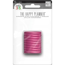 Me & My Big Ideas Create 365 The Happy Planner Translucent Hot Pink Medium Disc Rings RINR-01