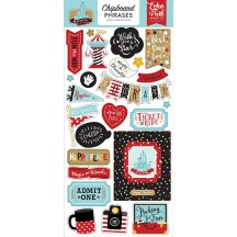 Echo Park Remember the Magic Self Adhesive Chipboard Phrases Stickers REM208022