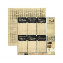 """Marion Smith Romance Novel Chapter 2 My Type 12""""x12"""" Double Sided Cardstock Sheet MS101109"""